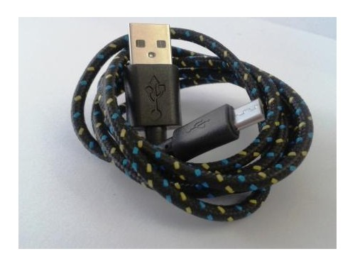 USB зареждащ кабел за данни textile Sting color/ Micro USB V2.0 / 1 meter