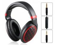 Слушалки с микрофон черно-червени 3.5mm jack